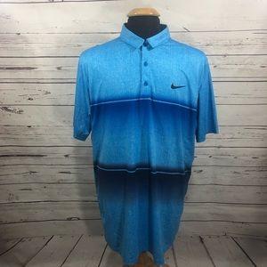 Nike Golf Dri Fit Polo Shirt Mobility Striped